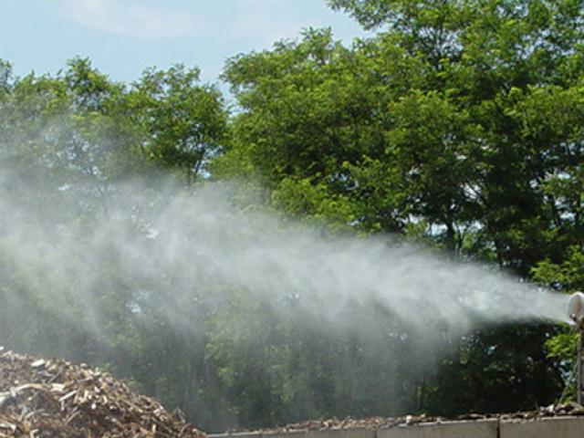 Canon brumisateur de chantier pour abattage de poussières par brumisation, suppression des odeurs, canon brumisateur
