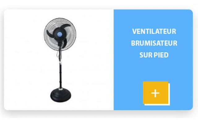 Ventilateur brumisateur sur pied