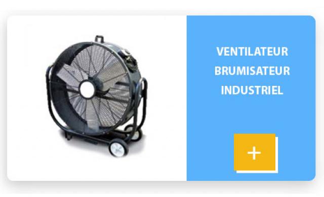 Ventilateur brumisateur industriel